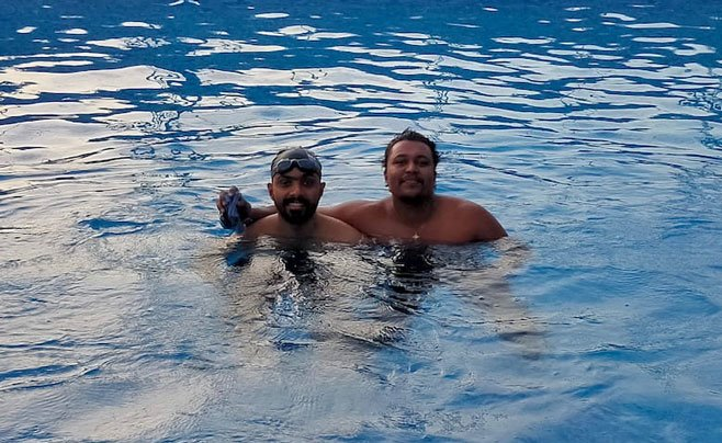 Gijo Varghese Swimming