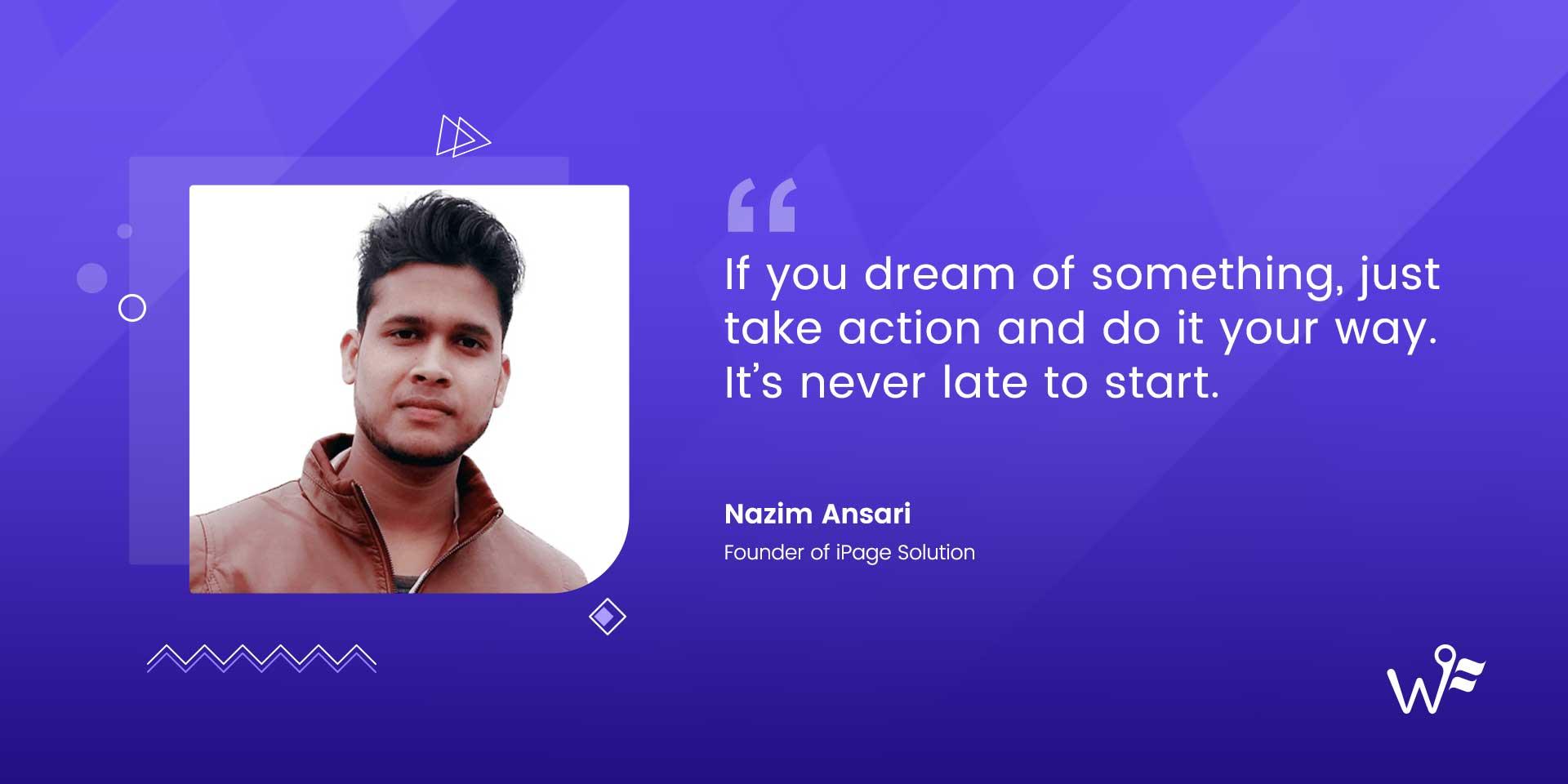 Nazim Ansari of iPage Solution