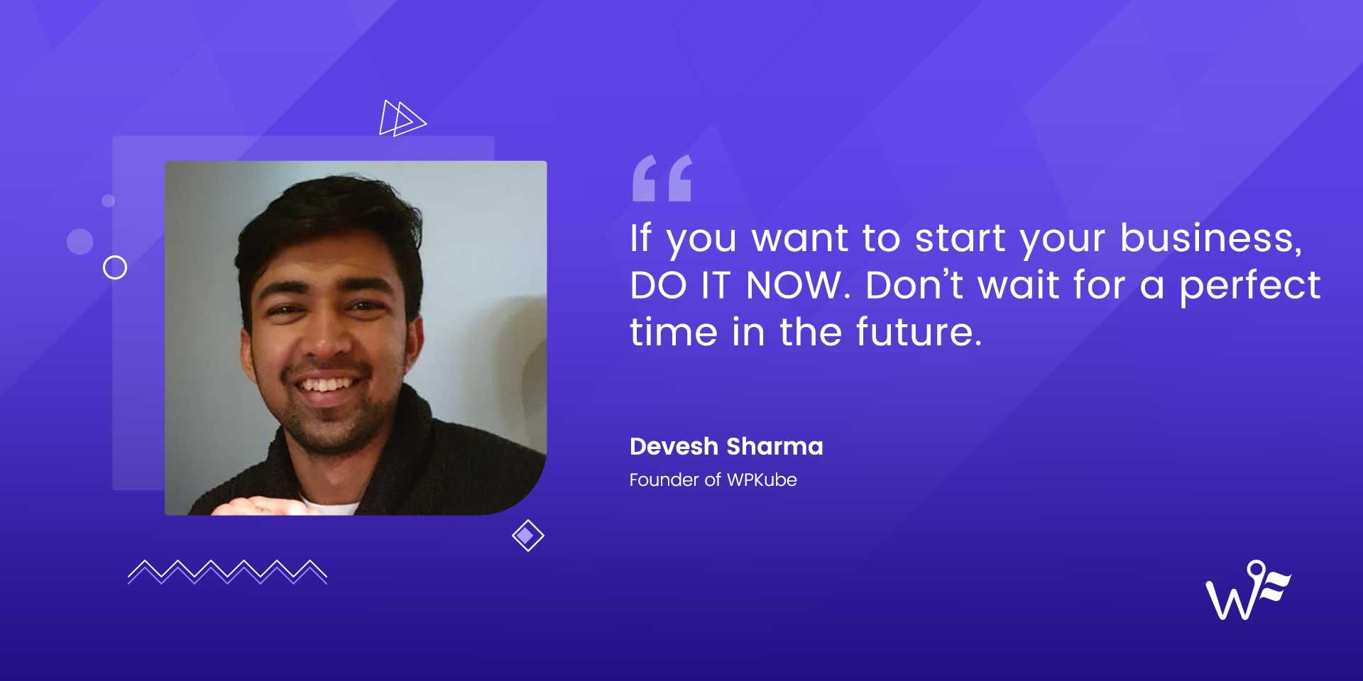 Devesh Sharma of WPKube